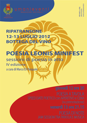 La locandina del Poesia Leonis Minifest 2012