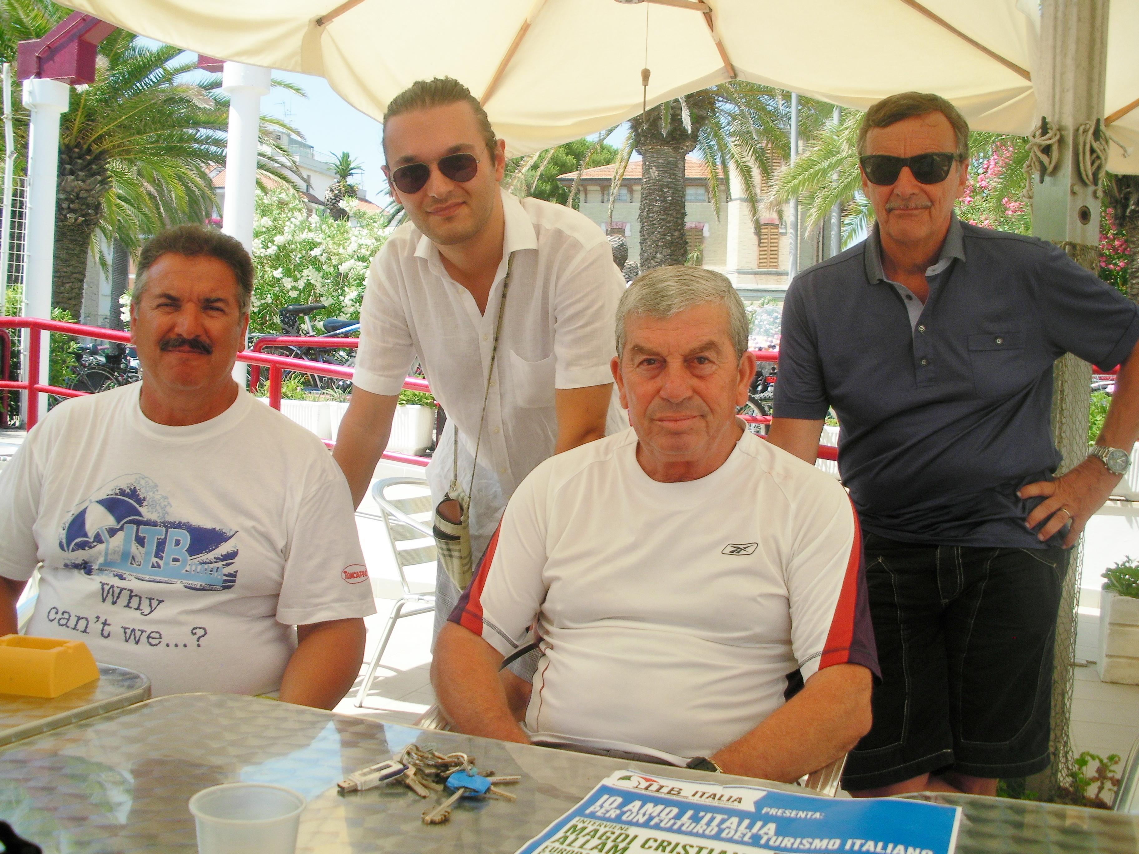Alcuni membri dell'ITB Italia con il presidente Ricci