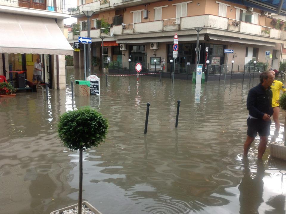 San Benedetto allagata, 23 luglio via Monfalcone-Trento
