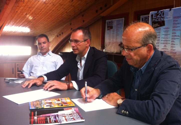 Stl. Da sinistra Alessandro Zocchi, Bruno Gabrielli e Mario Ruggini