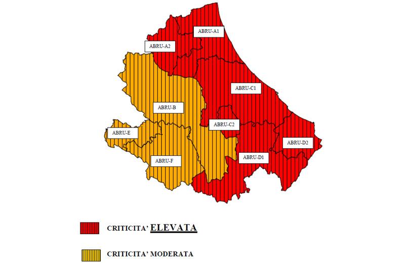 Maltempo, peggioramento in Abruzzo