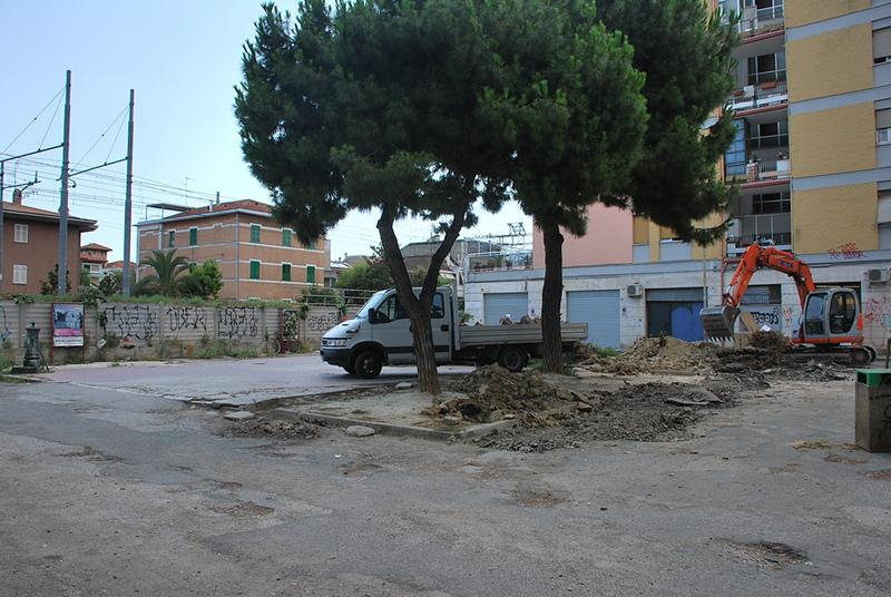 Inizio lavori in Largo Lazio il 16 luglio 2012