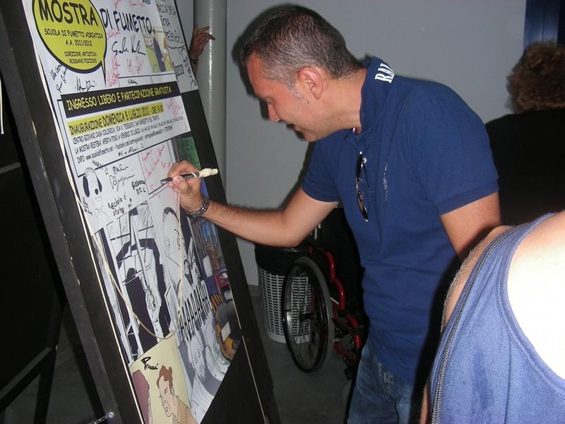Marco Curzi alla mostra del fumetto