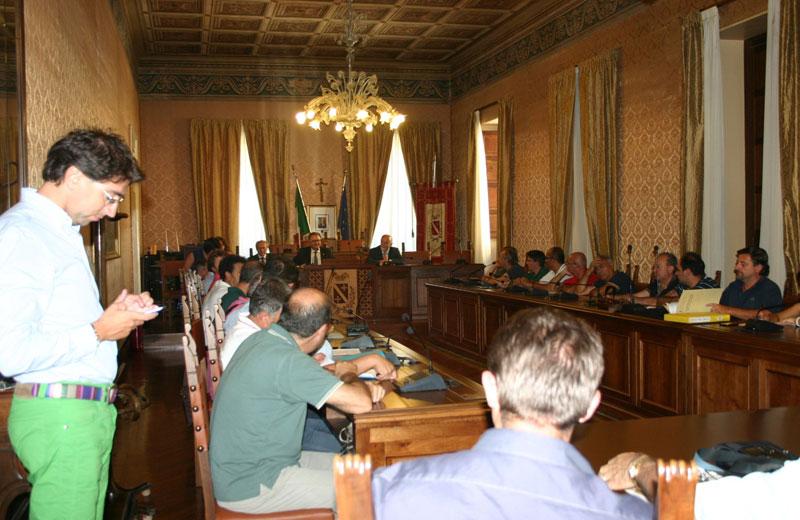 La riunione dei sindaci in Provincia