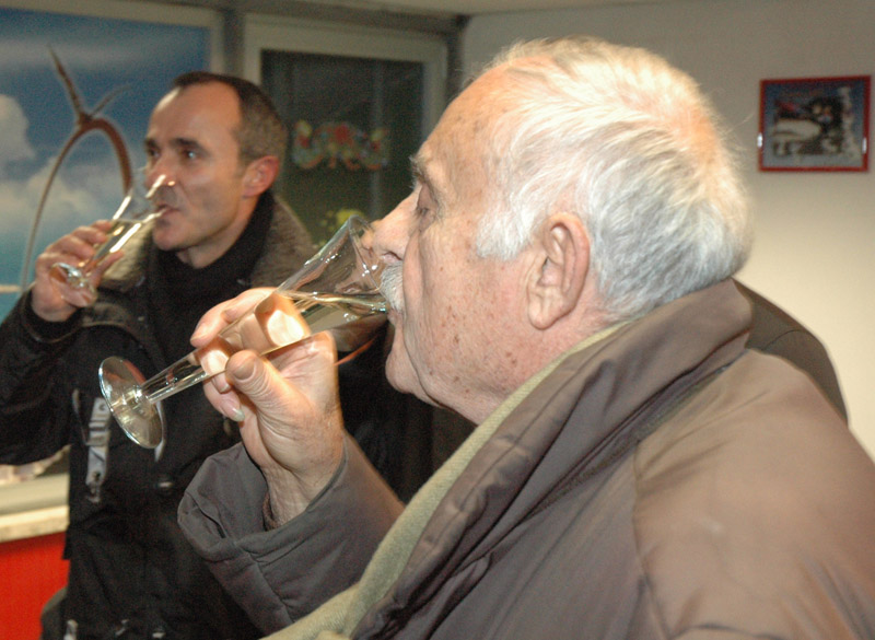 Enzo Troilo durante una festa della Sambenedettese calcio