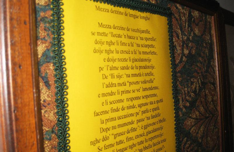 Una delle poesie dialettali di Pina Olivieri