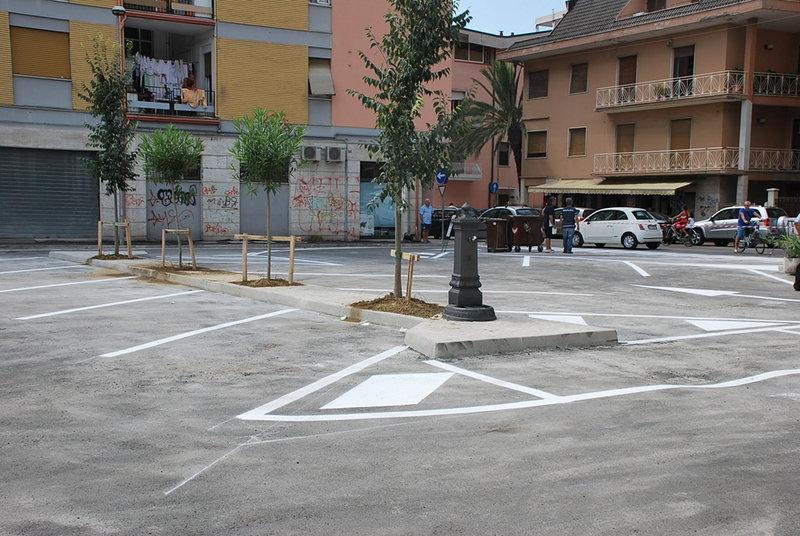 Largo Lazio dopo i lavori di agosto 2012