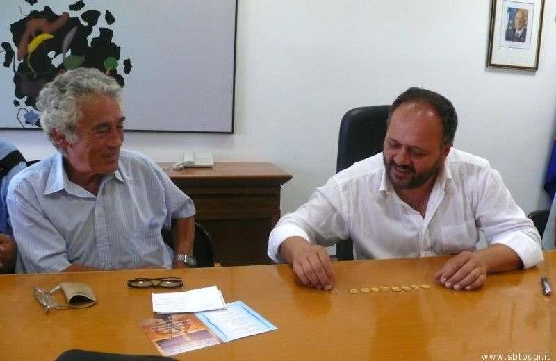 Pasquale Carminucci con il sindaco Giovanni Gaspari
