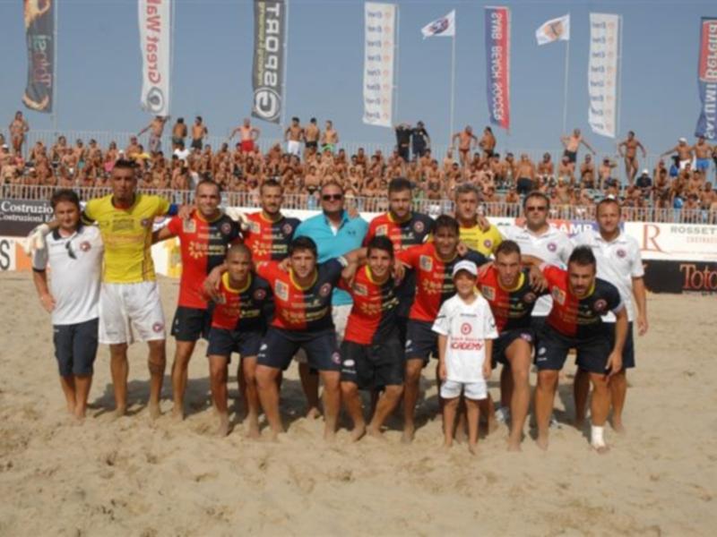 La Samb Beach Soccer e lo staff