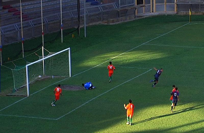 Samb-Palestrina, il terzo gol