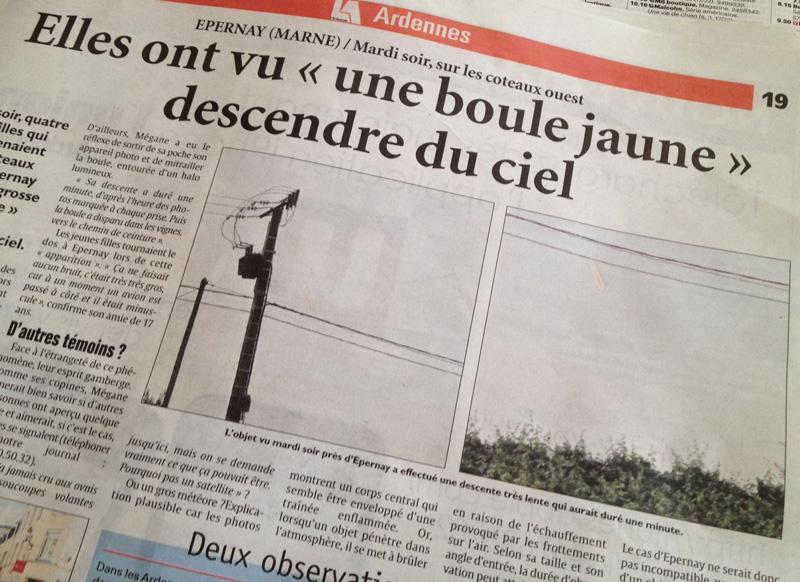 Il giornale francese corredato da due foto
