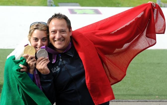 Massimo Fabbrizi con Jessica Rossi (fonte Corriere.it)