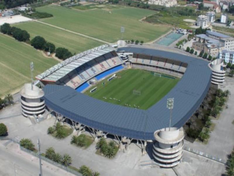 Lo stadio Riviera Delle Palme (foto aerea)