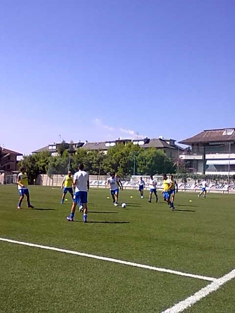 un momento della fase di riscaldamento del Porto d'Ascoli