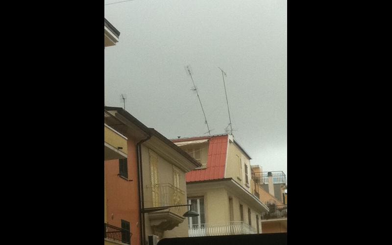 Antenne sferzate dal vento, San Benedetto, 14 settembre 2012