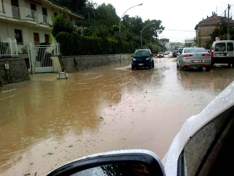 Forti piogge Cupra Marittima settembre 2012