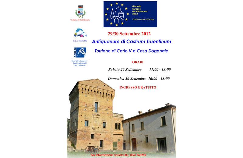 Martinsicuro aderisce alle Giornate Europee del Patrimonio