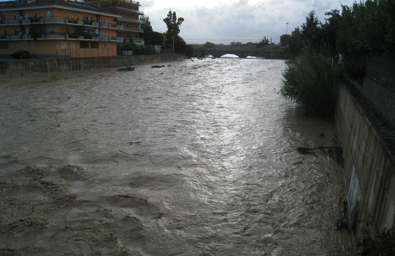 Il torrente Vibrata lo scorso 14 settembre 2012