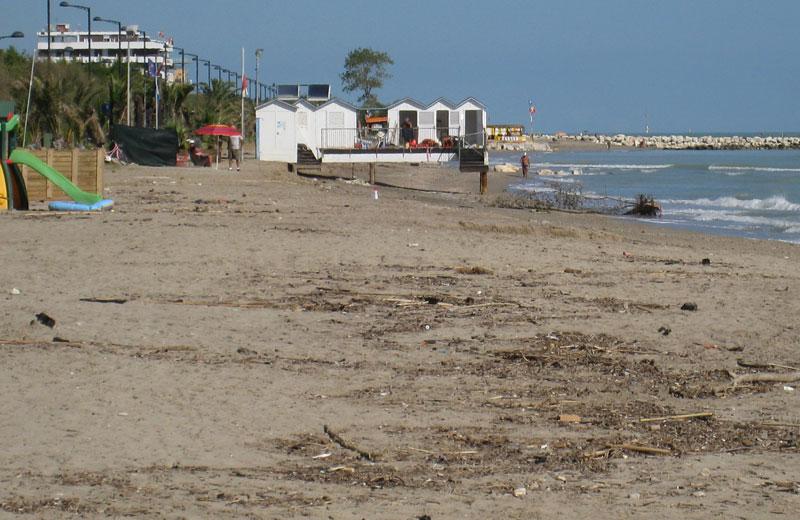 La spiaggia di Villa Rosa sud