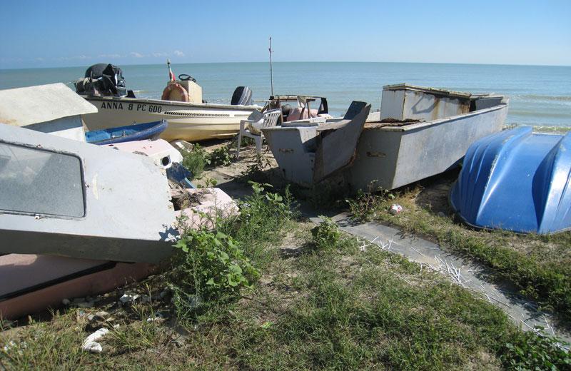 Barche a Villa Rosa sud