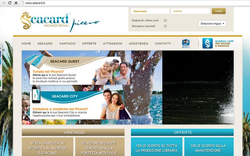 L'home page della Sea Card