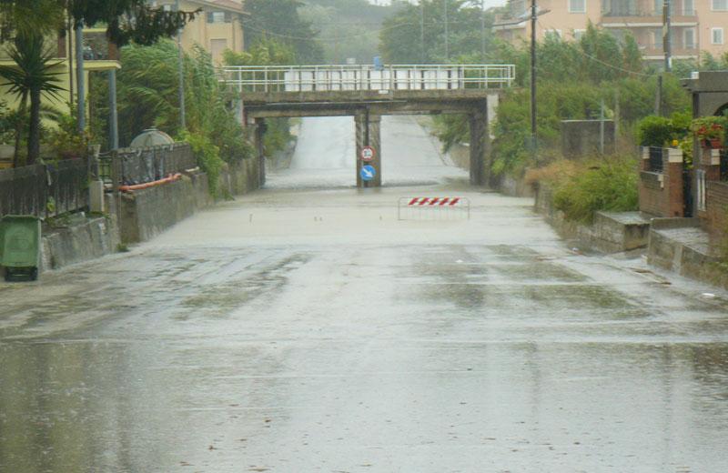 Martinsicuro 14 settembre, sottopasso di via Roma (foto Michele Giancaspro)