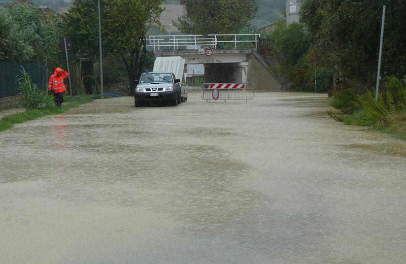 Martinsicuro 14 settembre, sottopasso di via Bolzano (foto Michele Giancaspro)