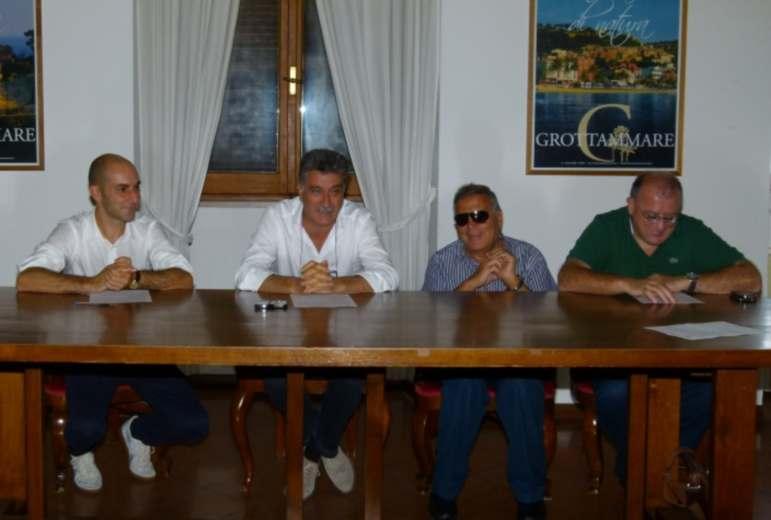 Passeggiata in Tandem 2012. Da sinistra Daniele Mariani, Luigi Merli, Armando Gliampieri, Adorato Corradetti