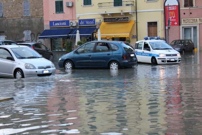 Un'immagine ormai abituale per San Benedetto del Tronto