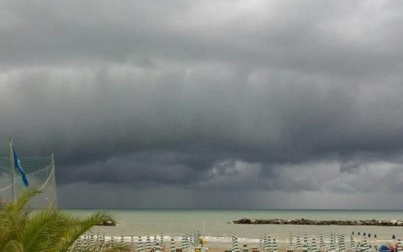 Pioggia in arrivo sul litorale di San Benedetto
