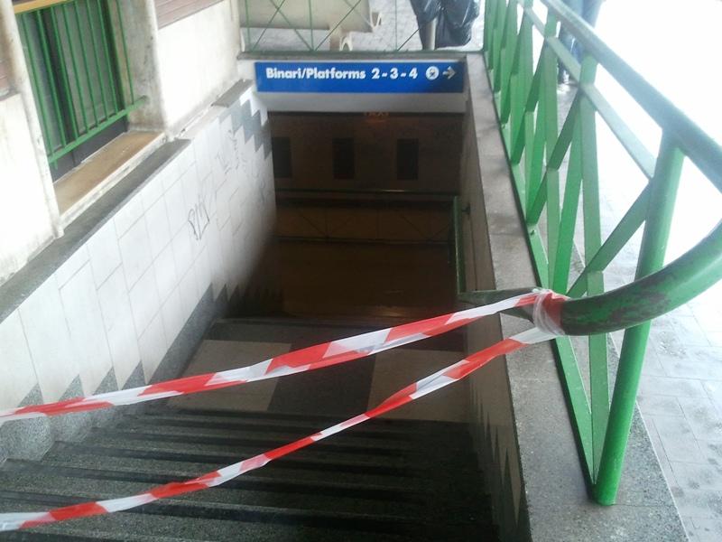 Stazione ferroviaria allagata San Benedetto del Tronto 14 settembre 2012  (2)