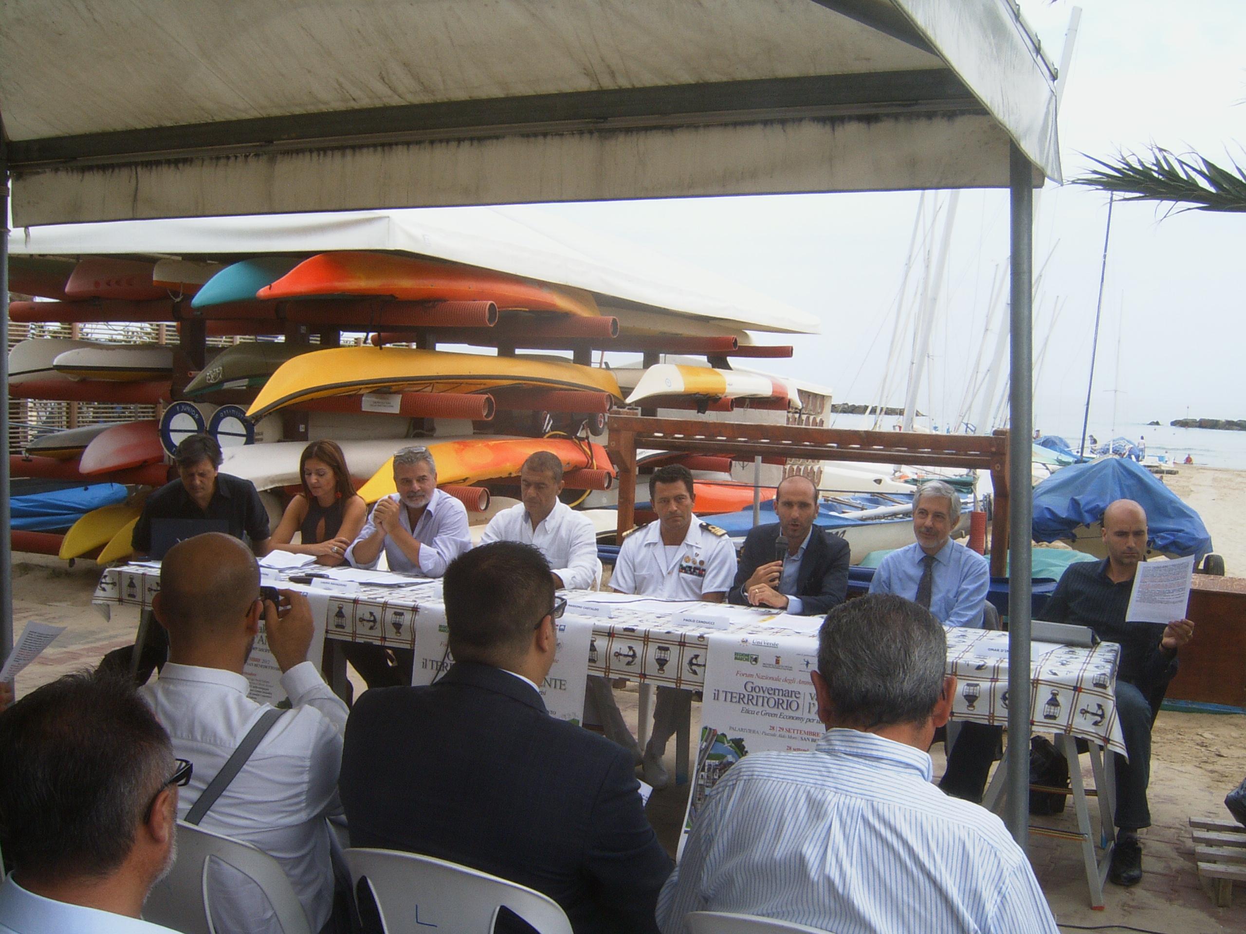Un momento della conferenza stampa svoltasi presso la Lega Navale Italiana