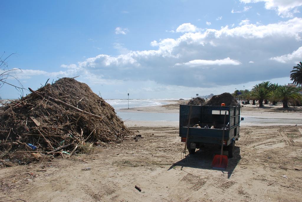 Lavori per la pulizia della spiaggia, settembre 2012