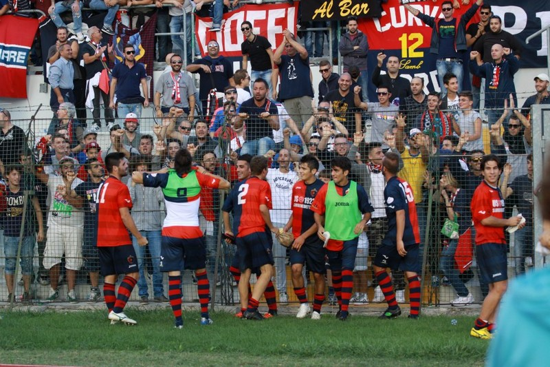 Maceratese-Samb (0-3), tifosi in festa(Bianchini)
