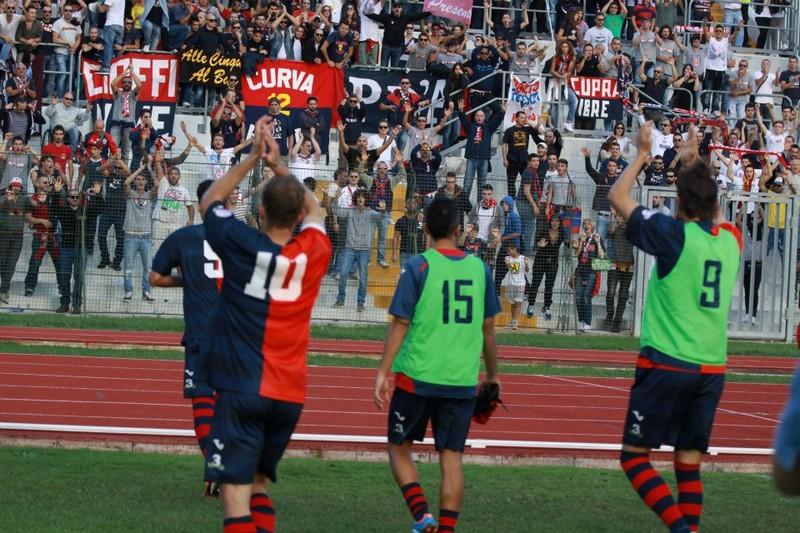 Maceratese-Samb (0-3), la squadra va a salutare i tifosi (Bianchini)