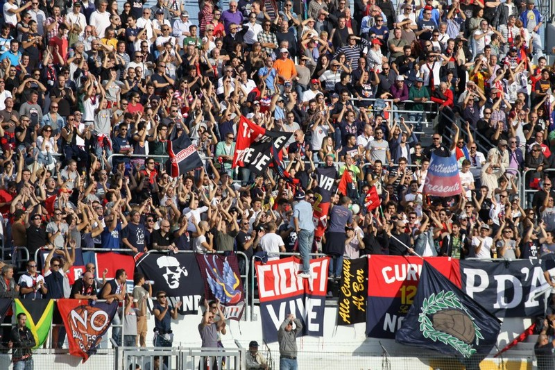 Maceratese-Samb (0-3), tifosi (Bianchini)