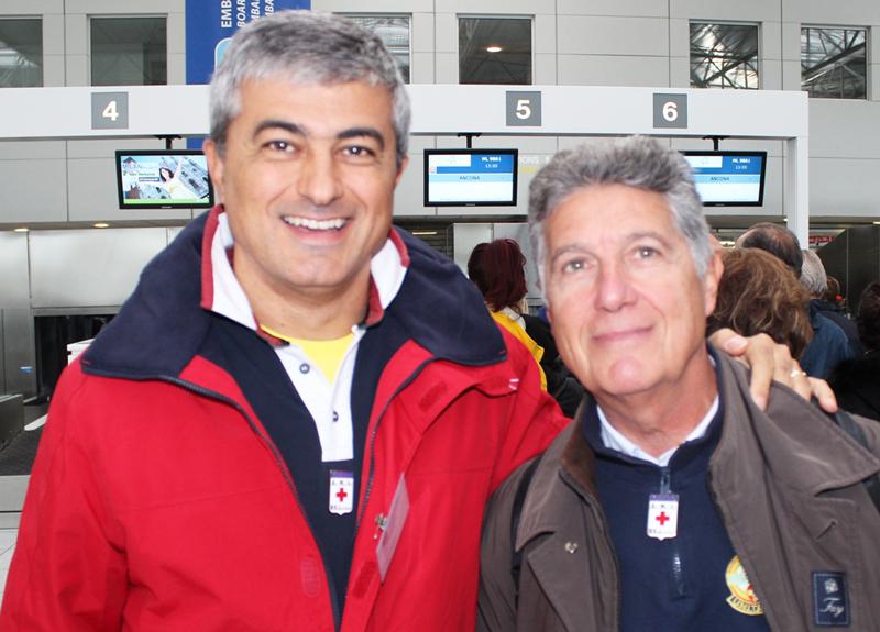 Alfredo Fioroni, responsabile scientifico dell'evento con il cardiologo Mauro Persico