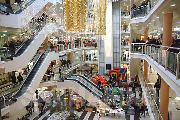 L'interno di un centro commerciale