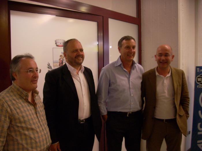 Ciccanti, Calvaresi e Pellei con il sindaco Gaspari