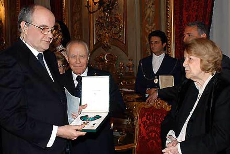 Manuel De Sica, premiato da Carlo Azeglio Ciampi
