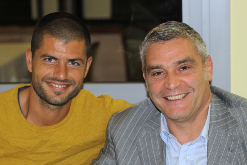Damiano Zanon con l'amico Antonio Zambetta