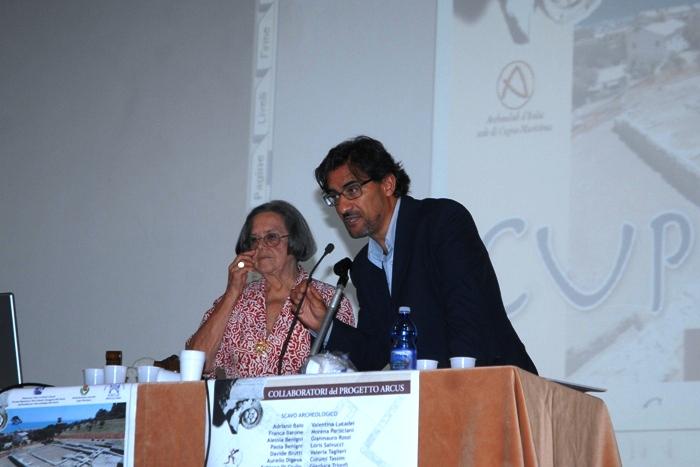 La dottoressa Elena Balestrazzi e L'assessore alla cultura Luciano Bruni