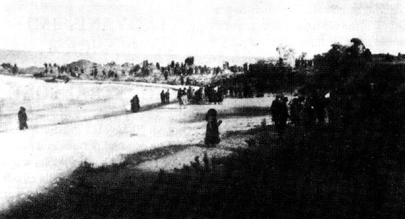 Frana 1928. La lunga lingua di terra scivolata in mare -  fonte archeocupra.it