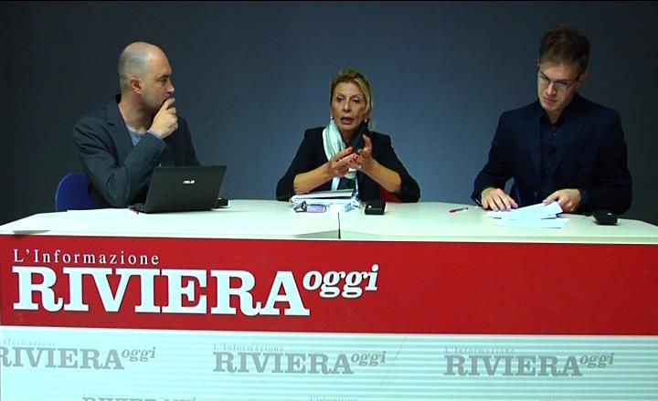 Loredana Emili con Pier Paolo Flammini e Massimo Falcioni durante YouRiviera