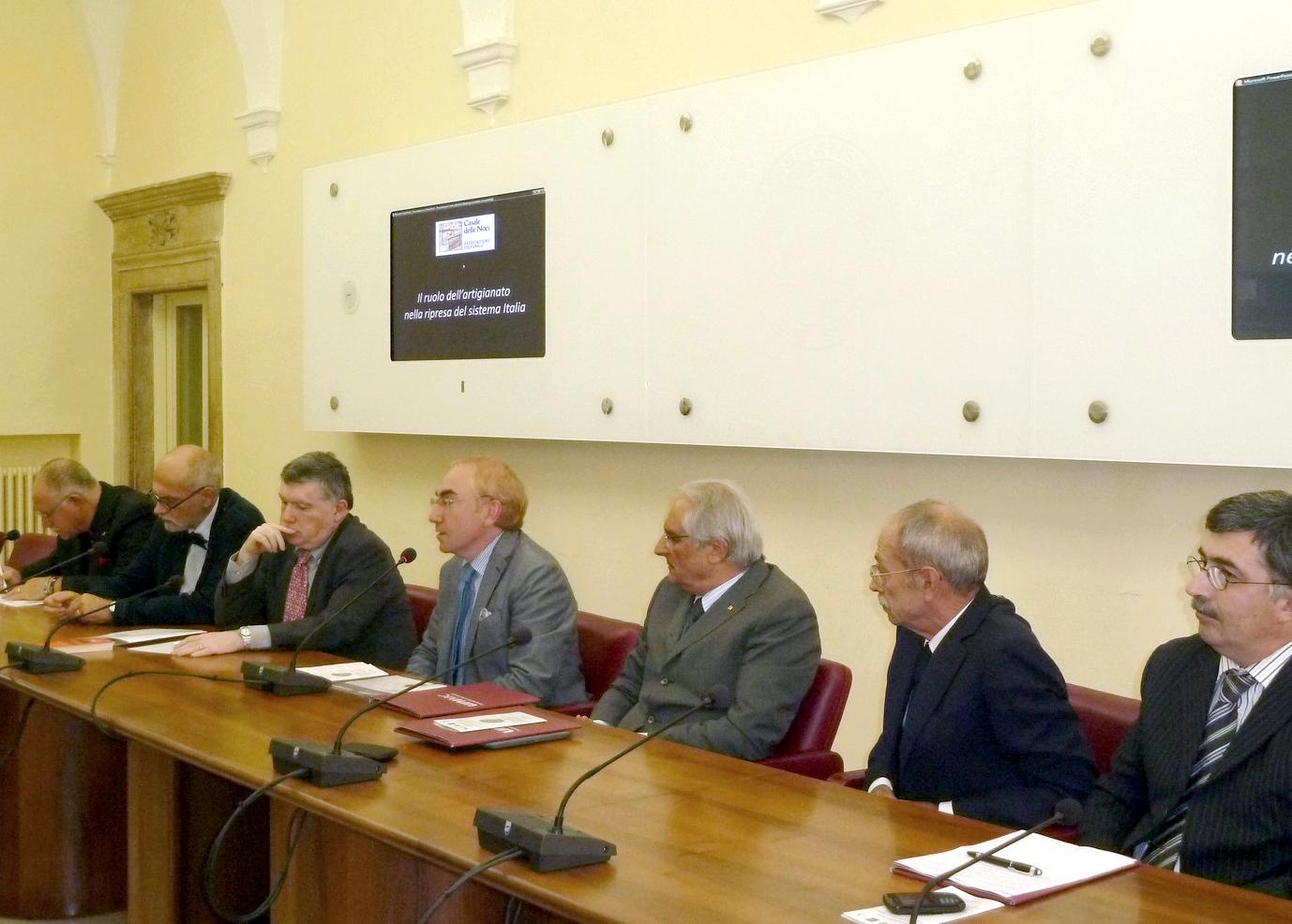 Da sin: Stefano Lucinato, Roberto Cresti, Roberto Lambertini, Luigi Lacchè, Sandro Bertini, Luigi Ricci, Assuero Zampini