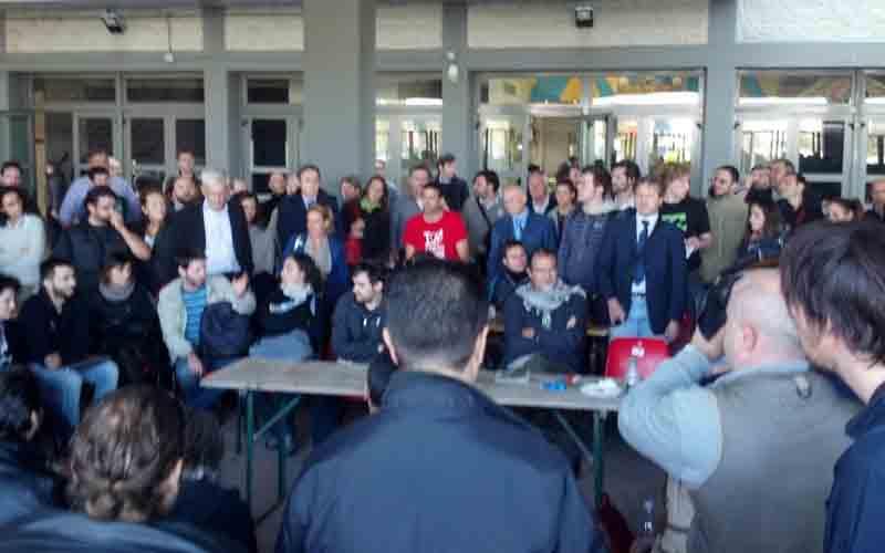 Rimini 105 Stadium, l'incontro degli attivisti