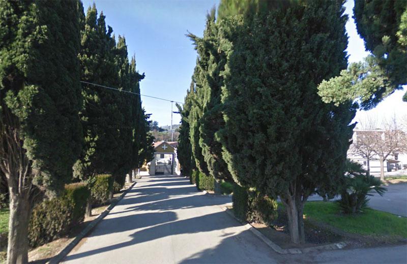 Il cimitero di Martinsicuro (foto google)