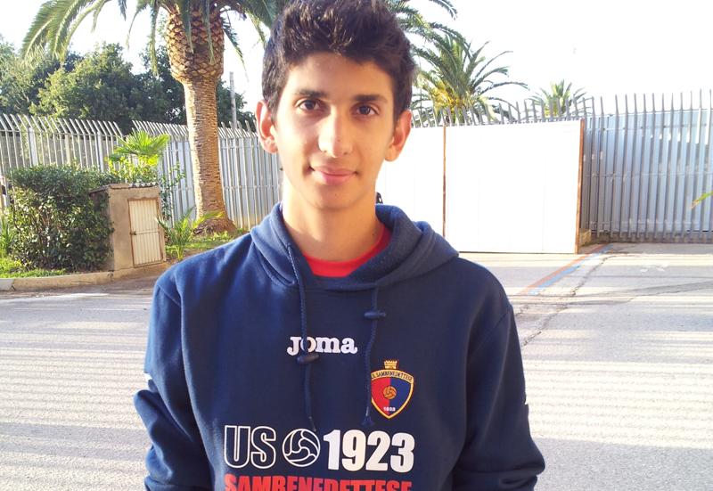 Il sedicenne grottammarese Vallorani ha esordito oggi con la maglia della Samb