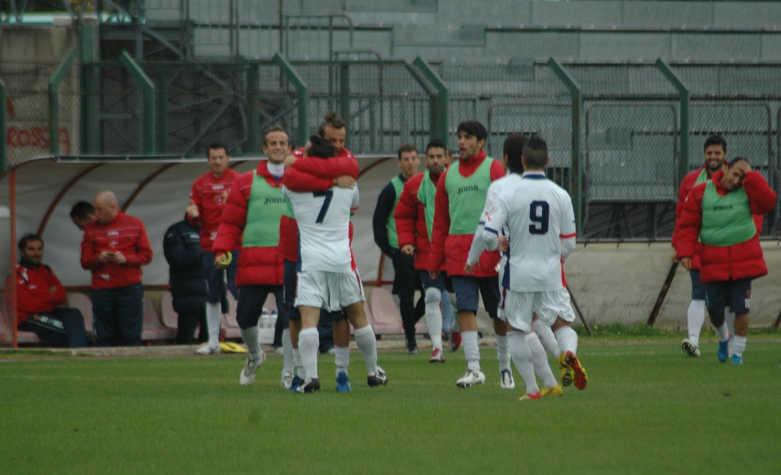 Samb-Ancona, abbracci per Napolano (GIAMMUSSO)