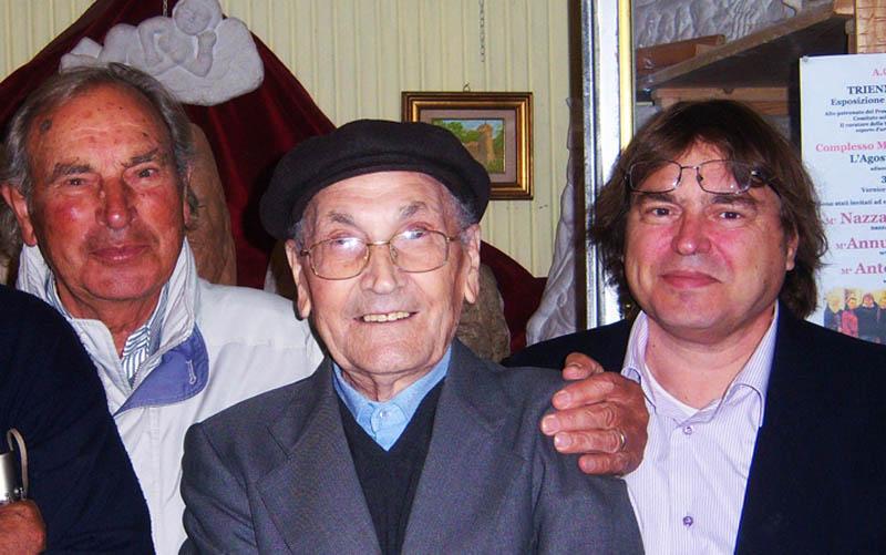 2 Plinio Spina con Nazzareno e danilo Tomassetti
